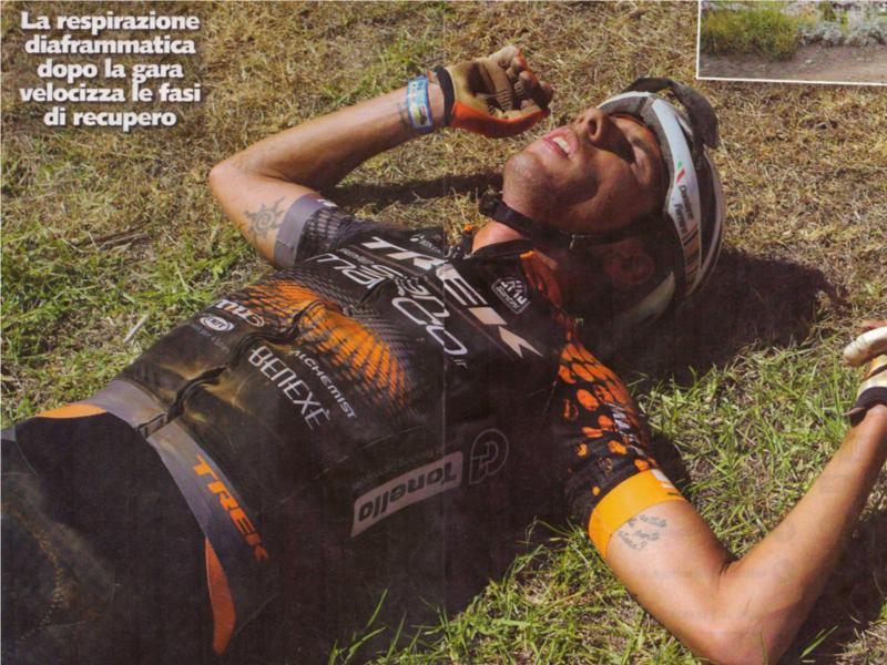 Foto di Damiano Ferraro su MTBmagazine sulla respirazione diaframmatica