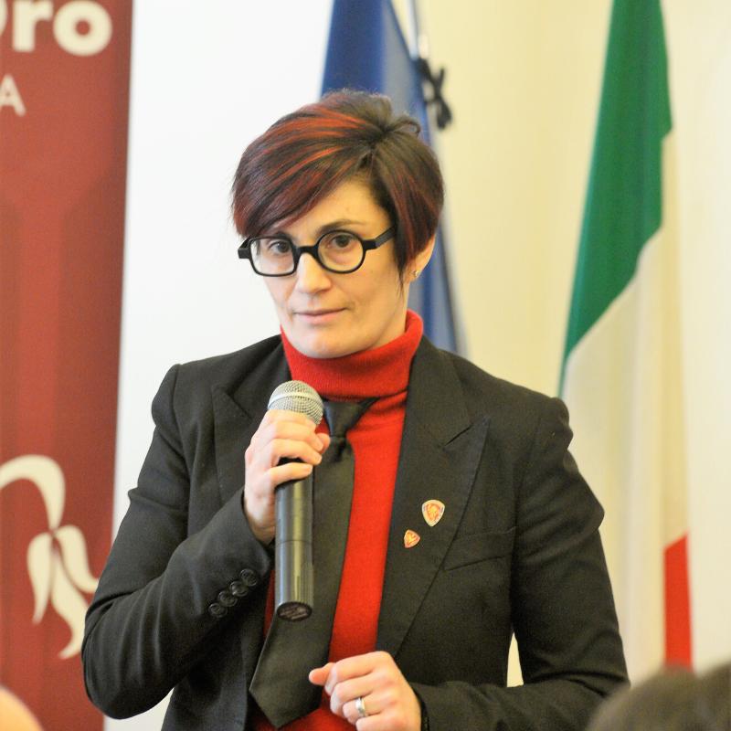 Silvia Rizzi alla conferenza stampa #UNCUORECREMISI 2019