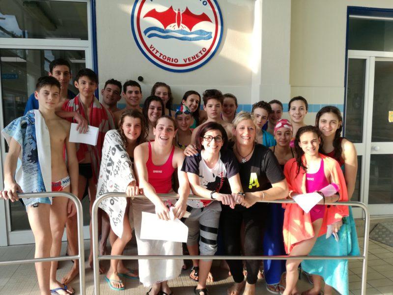 SIlvia Rizzi e la Nottoli Nuoto 74 di Vittorio Veneto durante il mental training