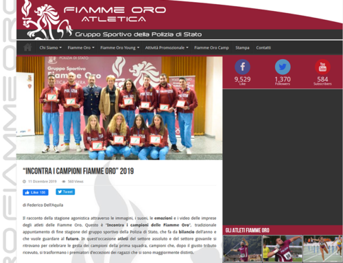 Incontra i campioni Fiamme Oro 2019
