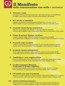 Manifesto della comunicazione non ostile e inclusiva verticale