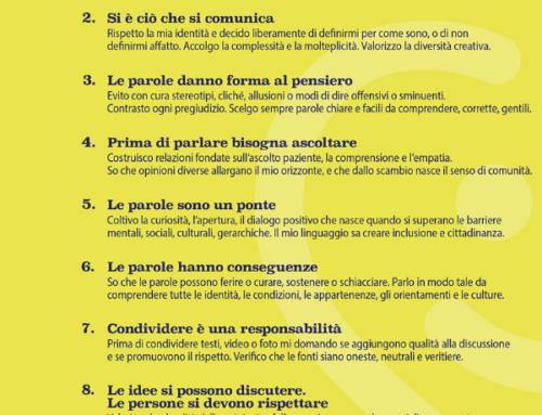 Parole O_stili: il mio contributo al Manifesto della comunicazione non ostile e inclusiva