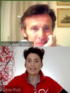 Silvia Rizzi e Paolo Camossi durante il webinar - le abilità relazionali dell'allenatore vincente -