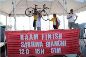 Sabrina Bianchi finisher alla RAAM