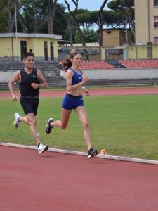 Francesco Fagnani si allena