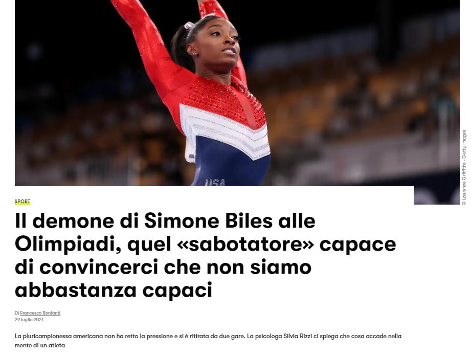 Intervista per GQItalia su Simone Biles