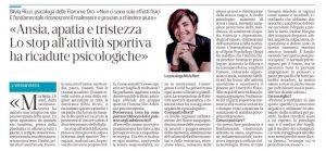 Ansia, apatia, Tristezza -Articolo del Mattino di Padova