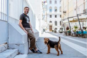 Paolo Prossen e il suo cane